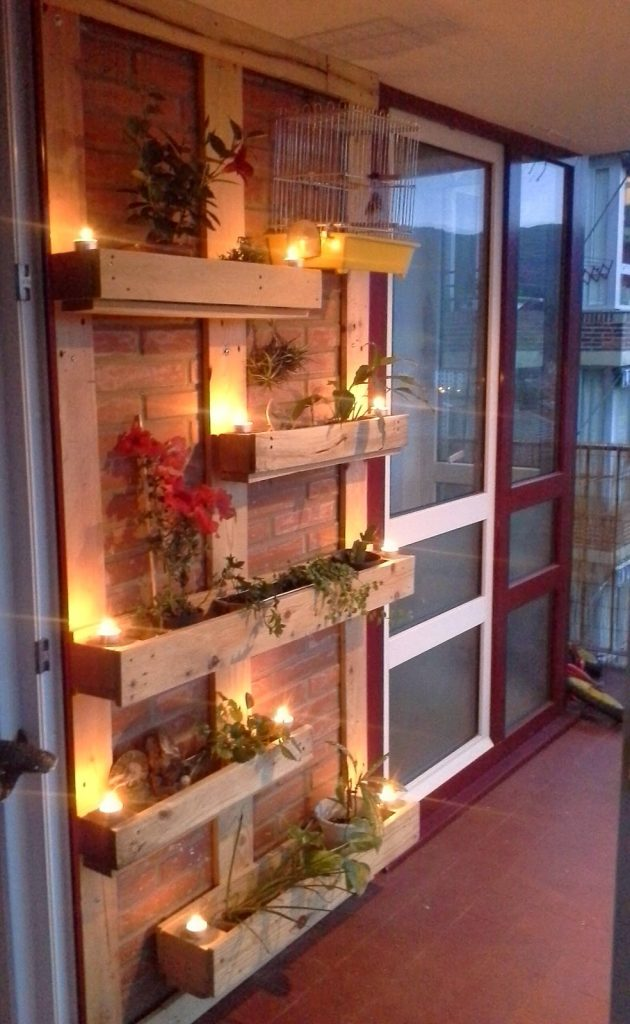 Wood pallet plant holder design ideas