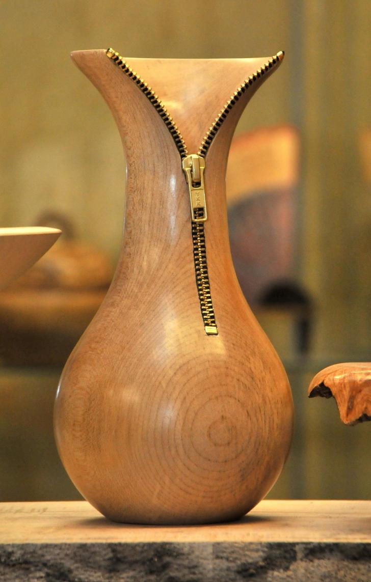 wood vase zip decoration design ideas