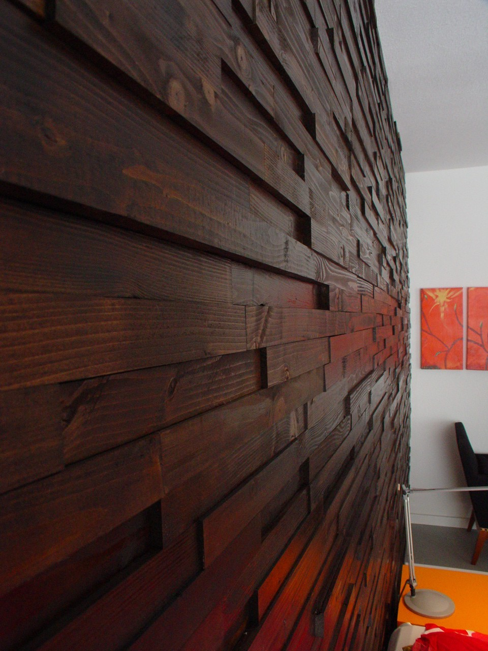 wood wall, living room design ideas