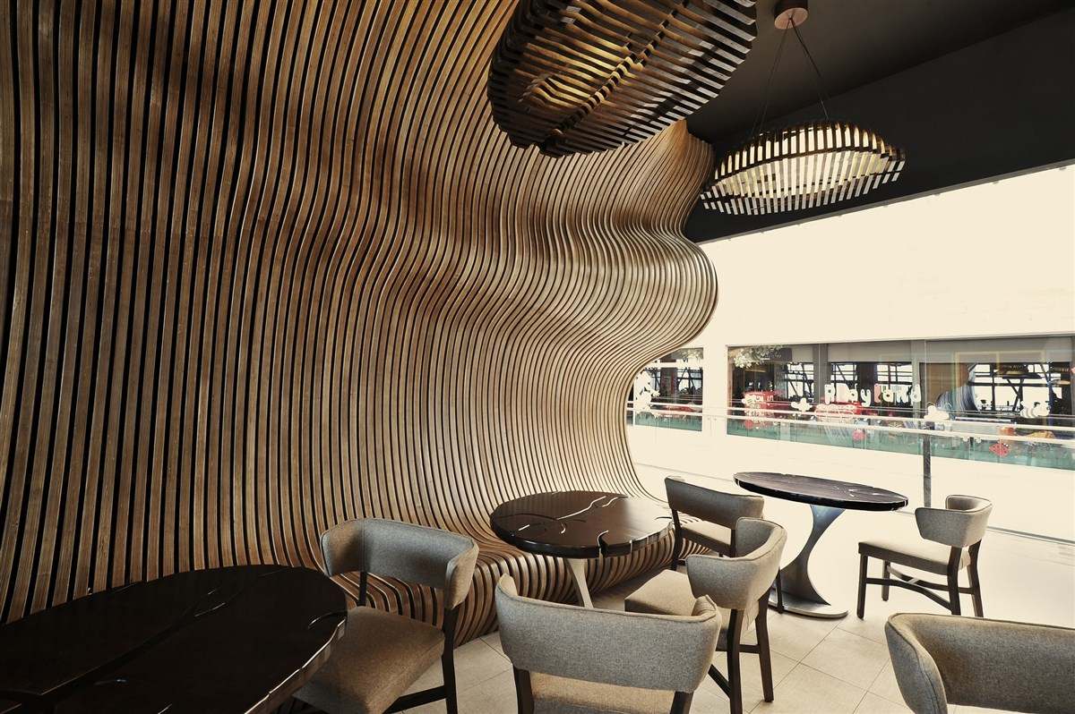 cozy shape wood wall design ideas