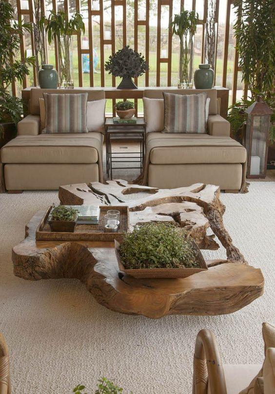 cozy wood coffee table design ideas