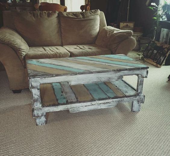 wood pallet coffee table design ideas