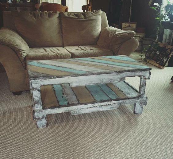 wood pallet coffee table design ideas
