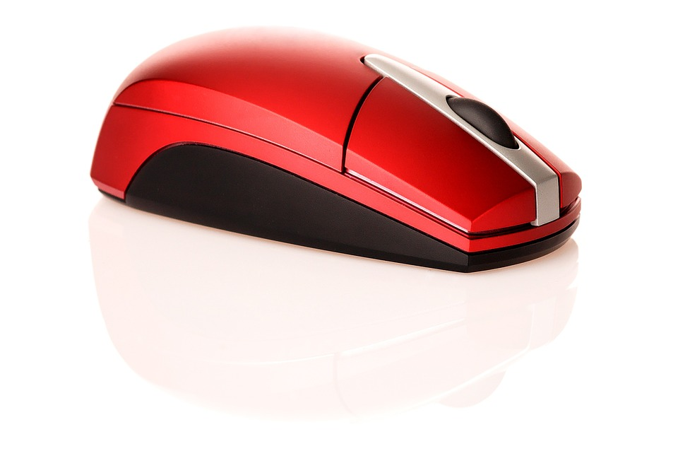 mouse, vomputer, wood, red