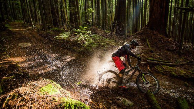One of the most satisfying things on the wet downhill ride is the tire pattering down the trail, squashing muck, ...