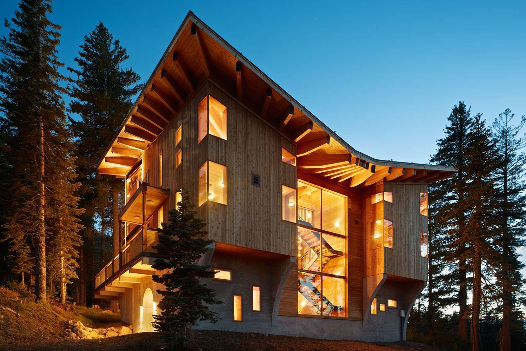 This mountain cabin for a family of six is located at 7,080 feet elevation on Sugar Bowl ski resort in ...