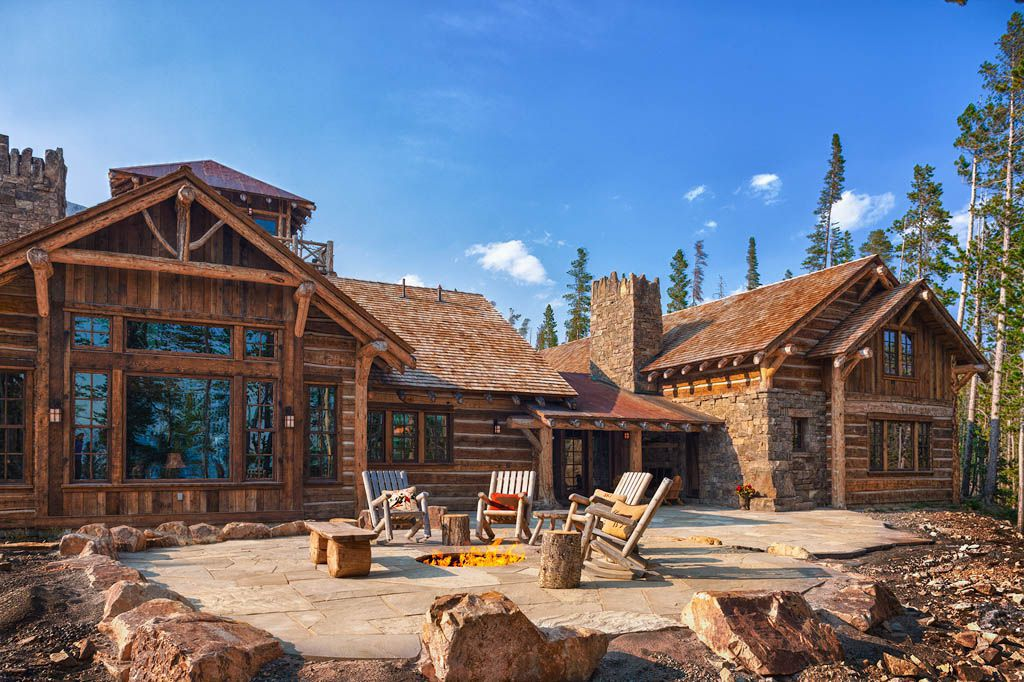 The Foxtail Residence is built entirely of rustic logs and featuring lots of reclaimed materials. Featured in both the Big ...