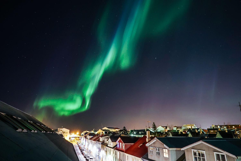 Northern lights, Reykjavik Iceland. | © Hunter Lawrence