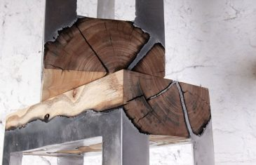 This is a combination of metal and wood you are not used to seeing every day. Furniture artist Hilla Shamia ...
