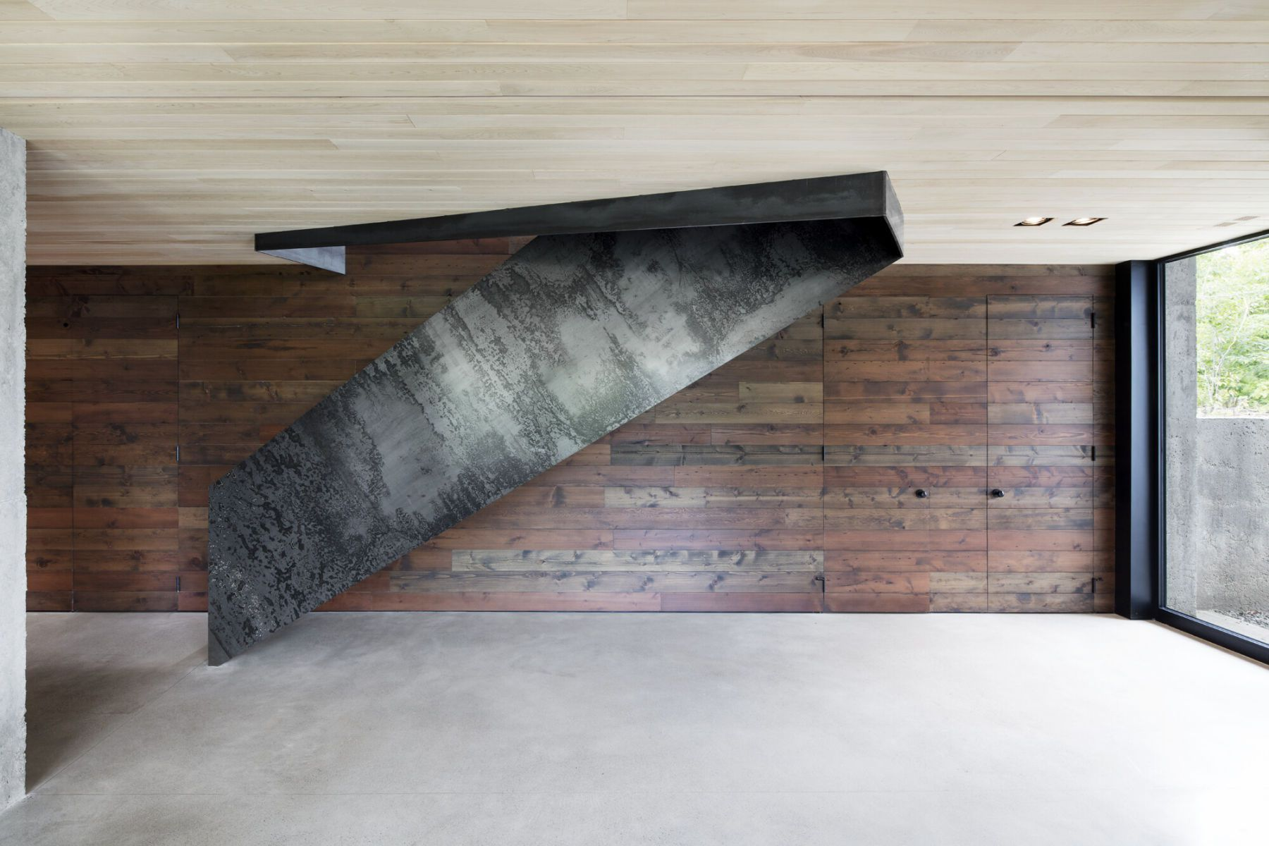 wooden ceiling and wall interior
