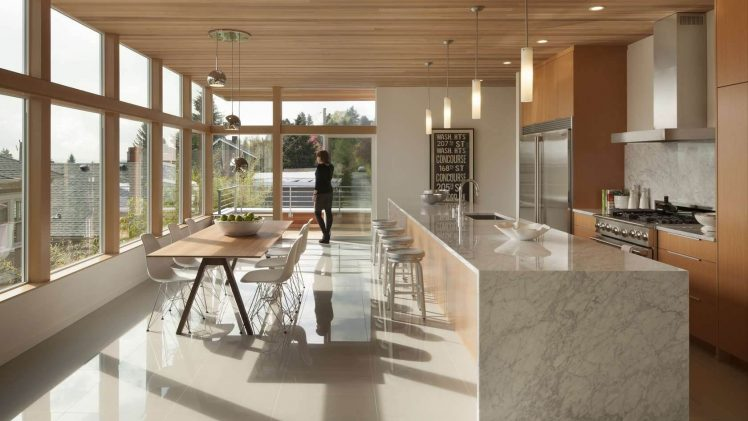 This home was built in Seattle with amazing views of the surrounding landscape. It was designed to express northwest native ...