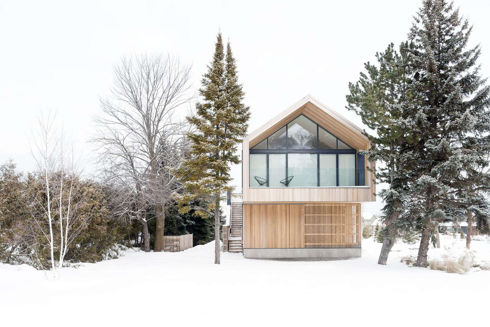 A country home in a community of modest chalets situated between a promontory of the Niagara Escarpment and Georgian Bay ...