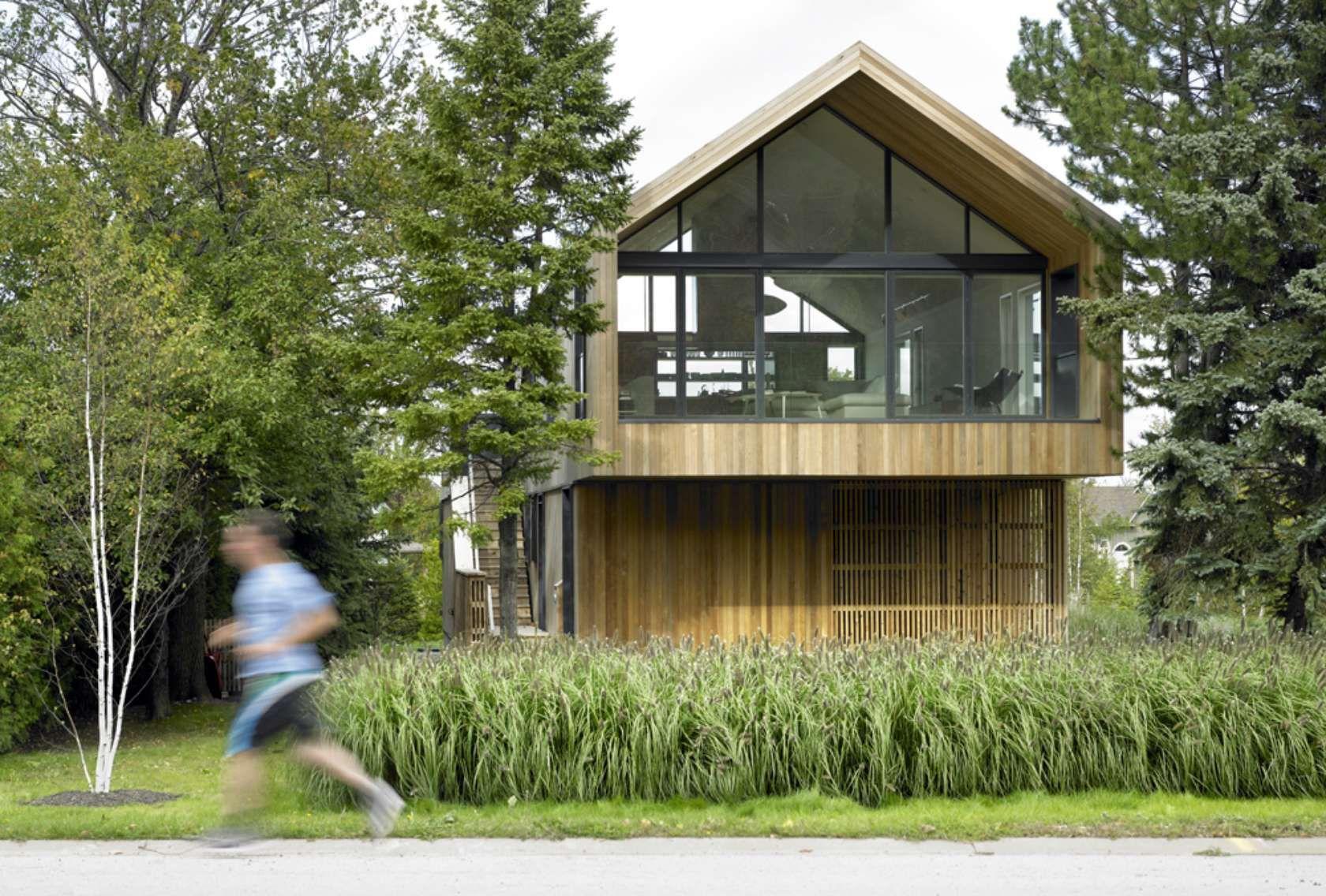 modern chalet wooden architecture