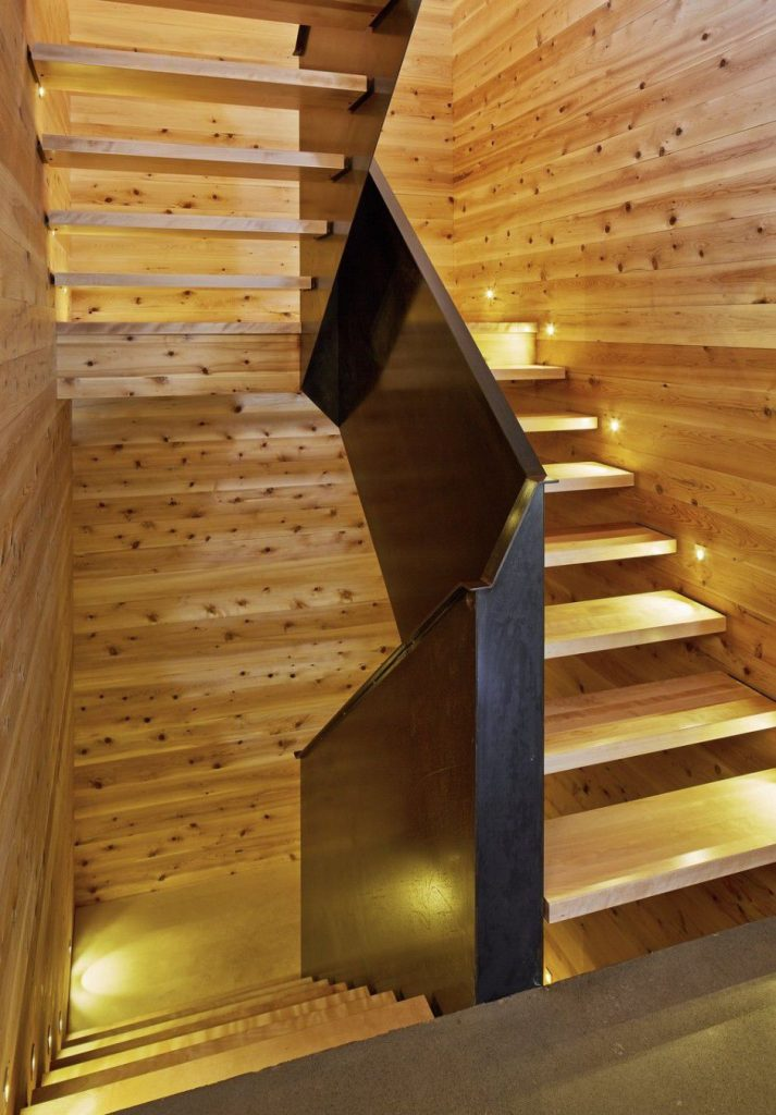 wooden interior staircase Canada Architecture Woodz