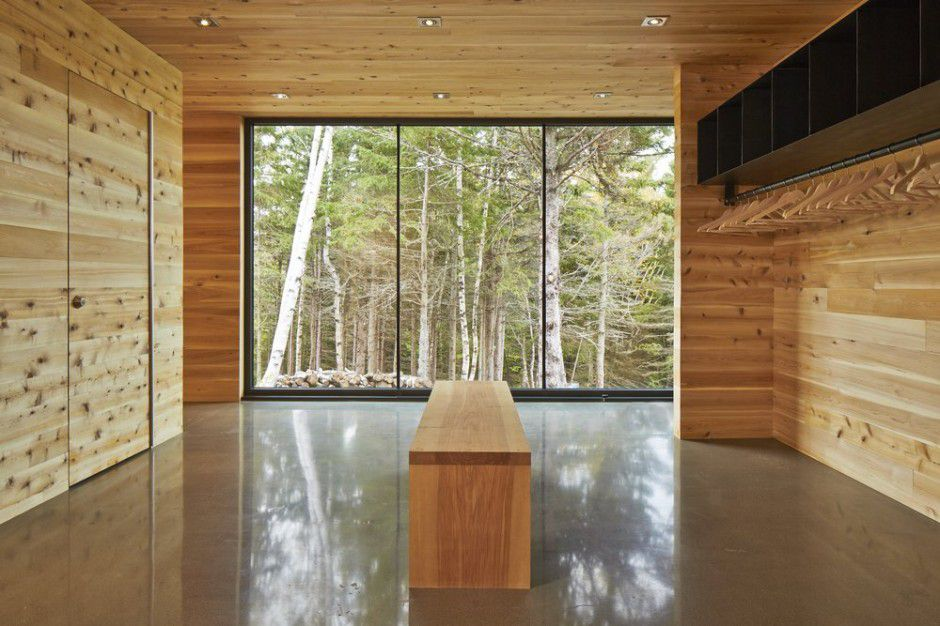 Architecture Woodz wooden walls and ceiling