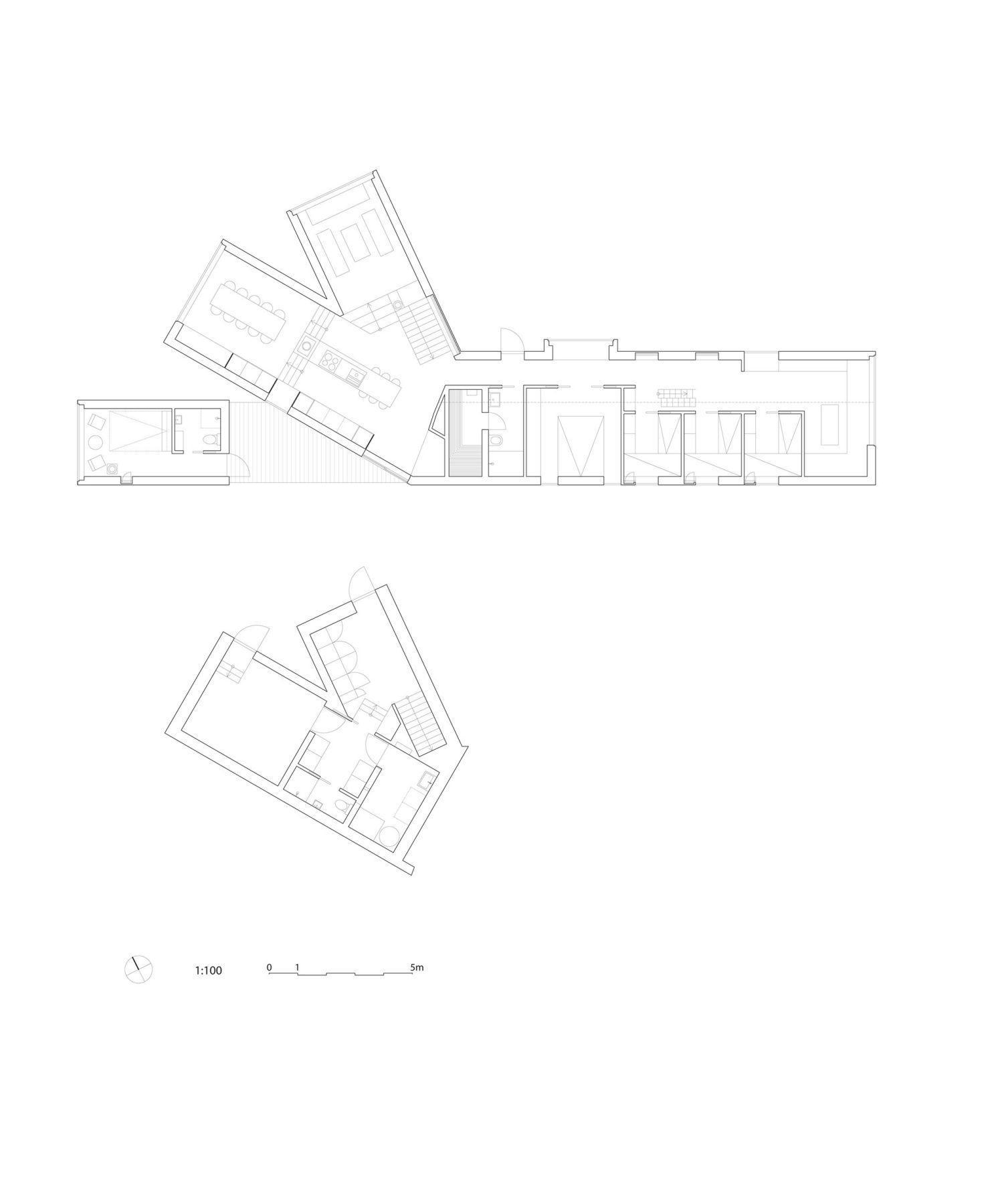Split View Mountain Lodge Plan 1