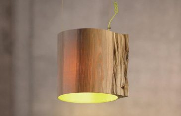 It is made from wood with the power of the moment when her wood was felled. The lampshade is entirely ...