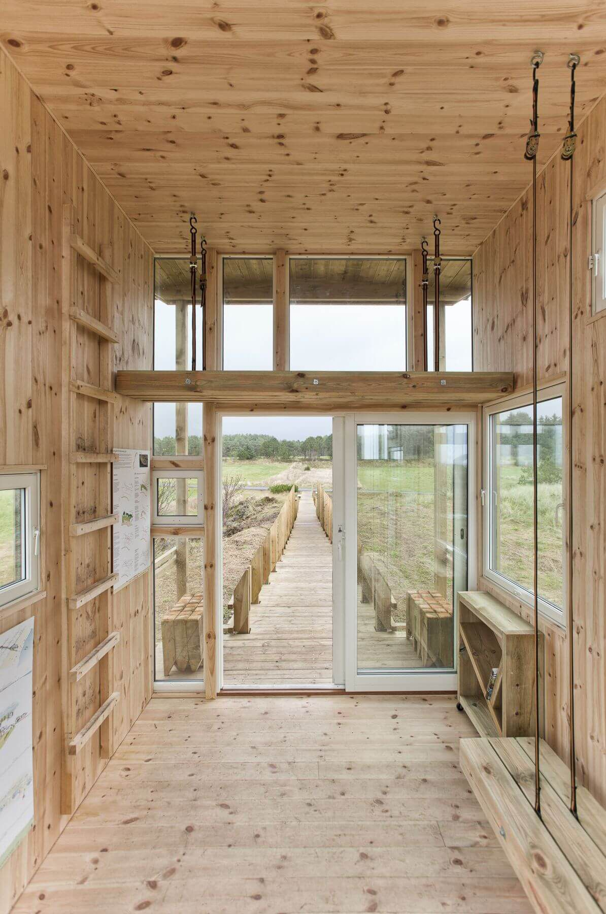 wooden landscape viewpoint Norway wooden interior