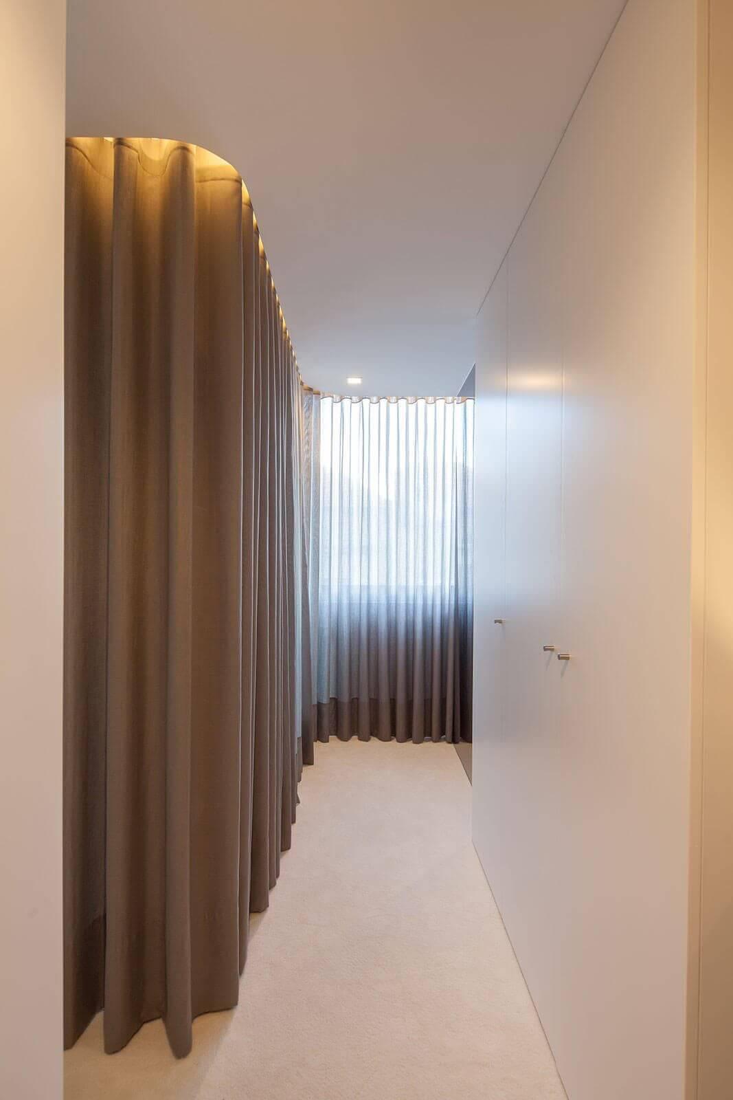 modern white interior hallway