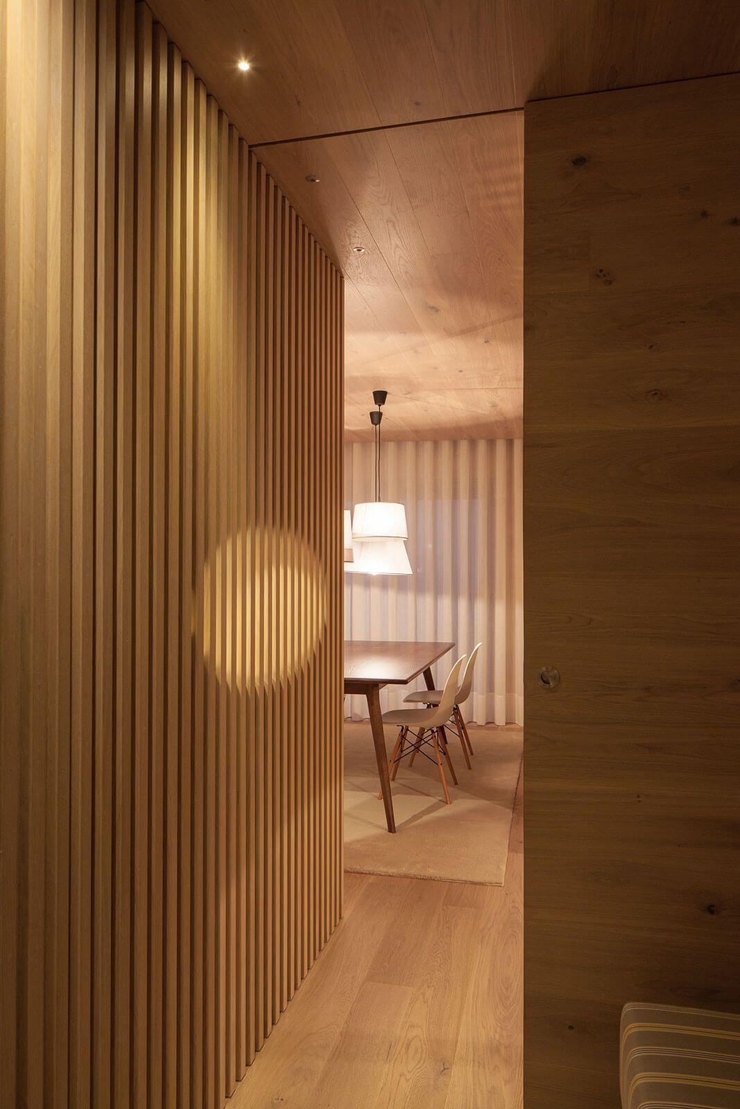 modern wooden wall interior