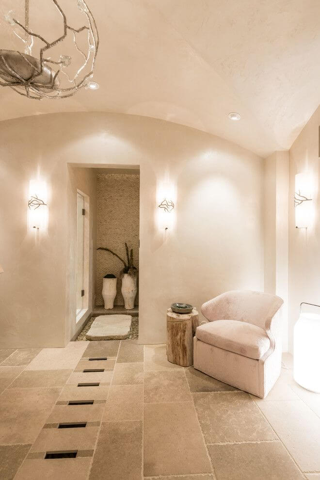 bright spa area