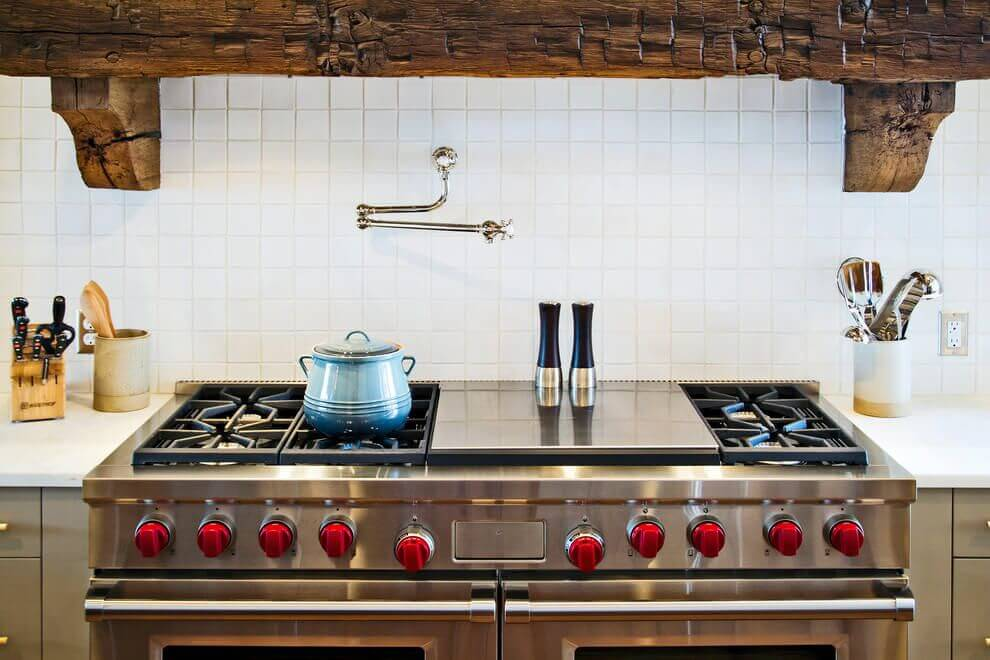Luxury Kitchen stove wooden touch