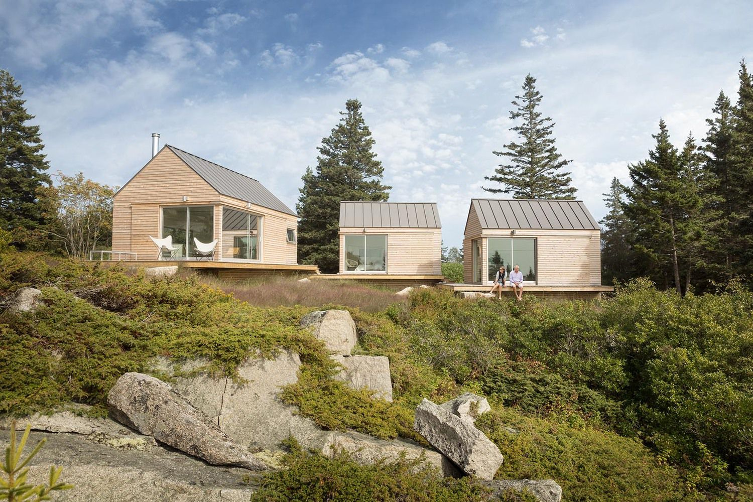 CLT panels wooden small cabins in Maine