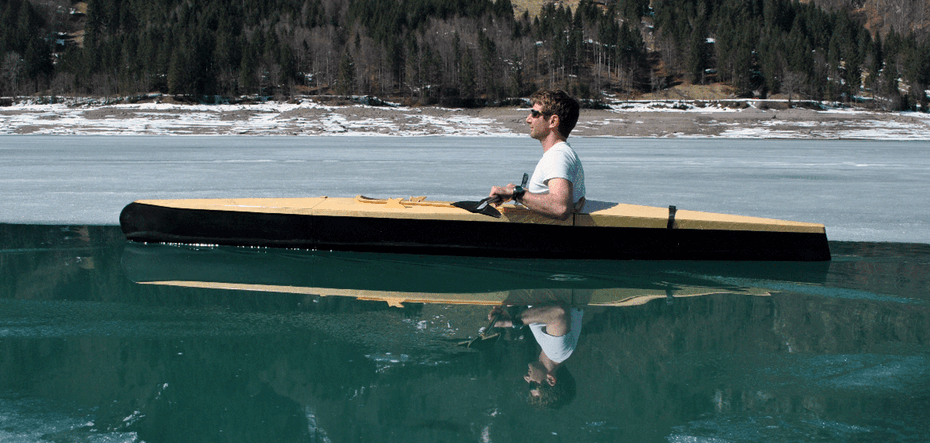 The modular boner kayak breaks down into three pieces that nest together and fit easily into the trunk or even ...