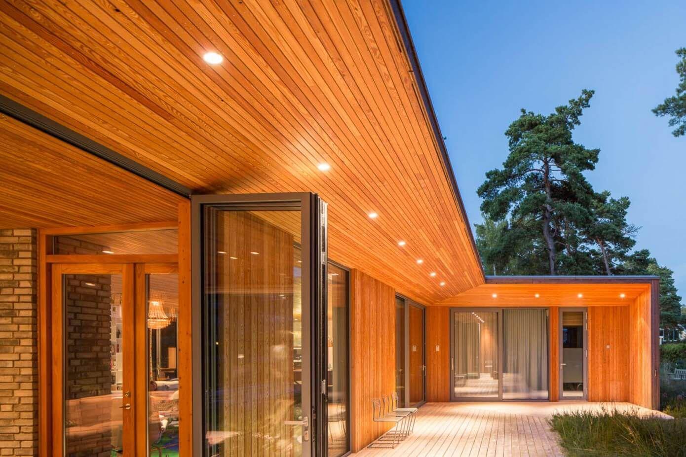 wooden modern deck