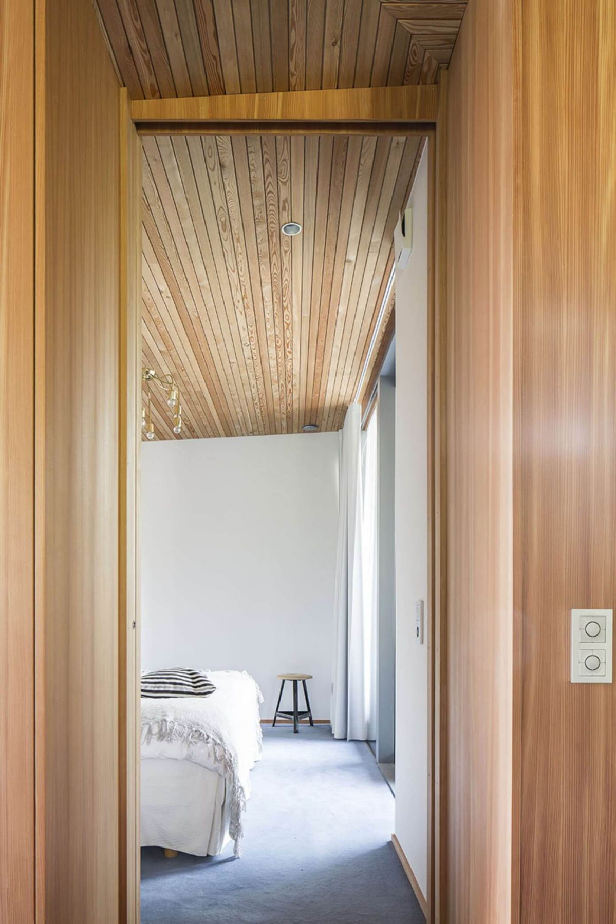 wooden interior design ceiling and walls