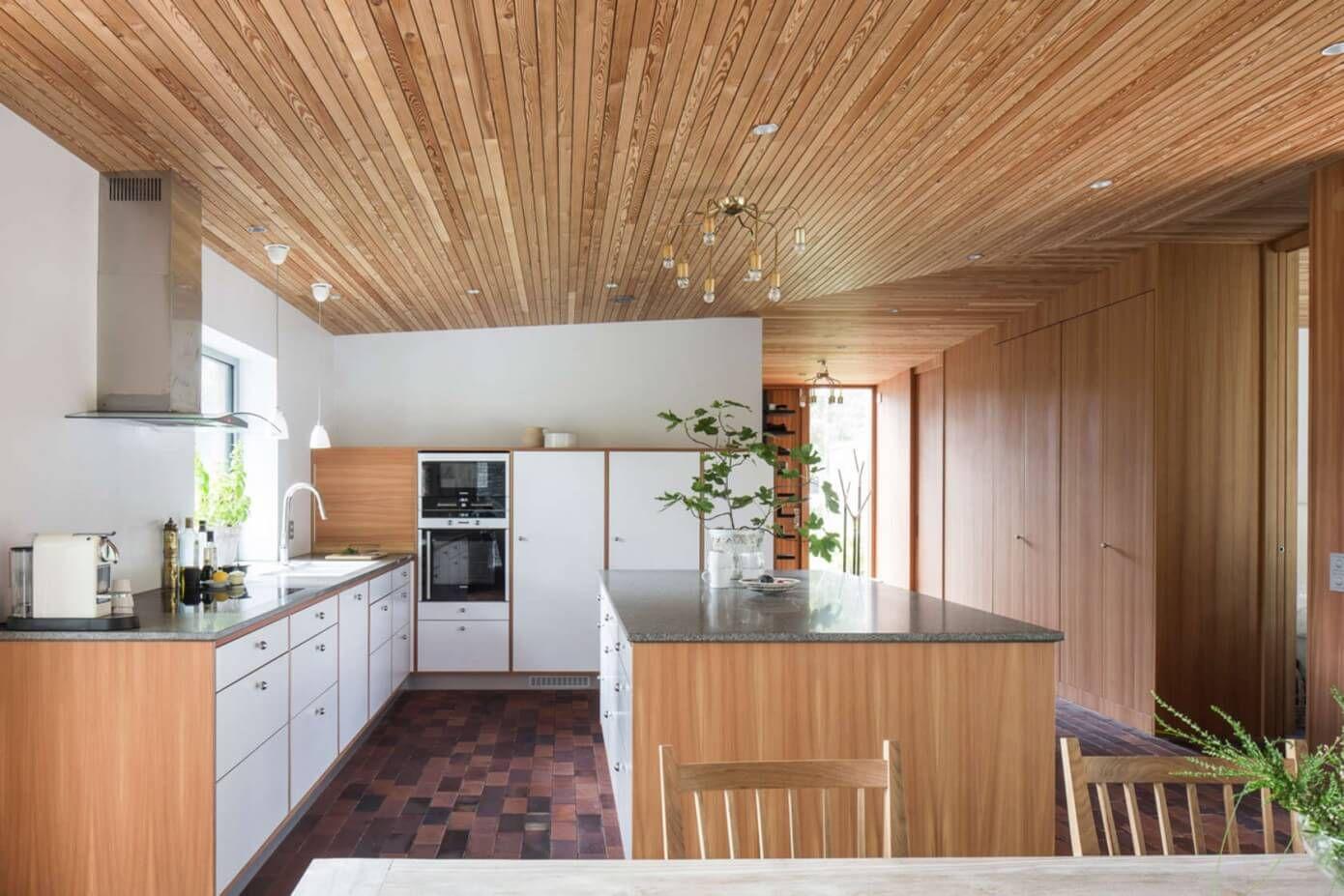 wooden interior design modern kitchen