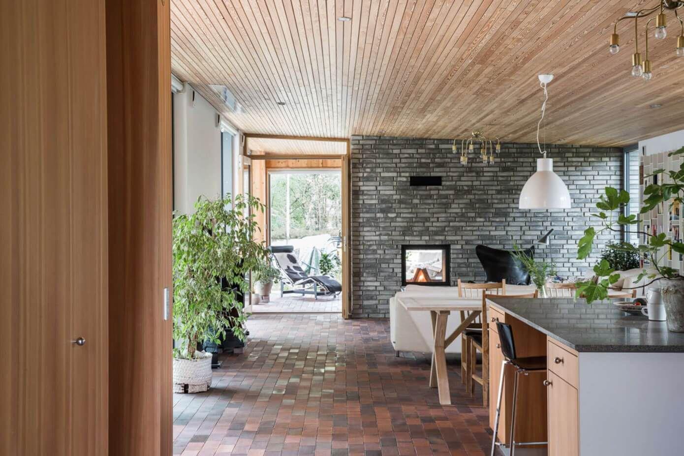 wooden ceiling modern interior