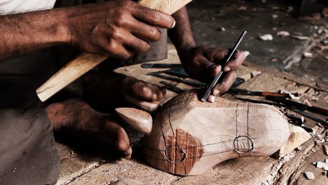 Traditional wood carving, like many other crafts is slowly disappearing.