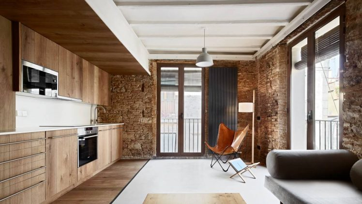 This warm - bricks and wood - apartment is a part of four apartments located in the heart of the ...