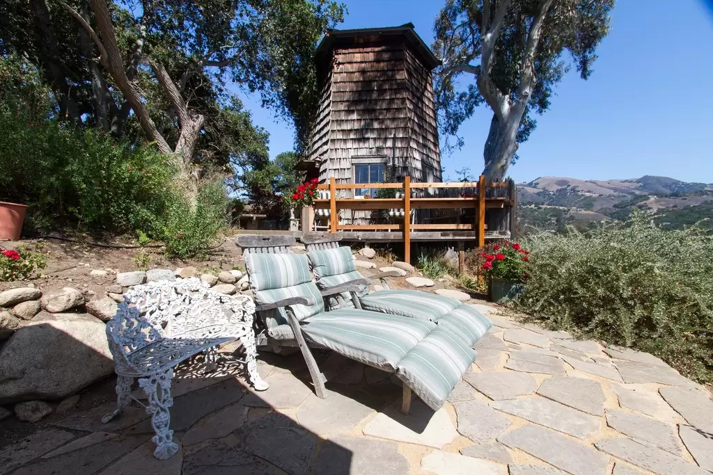 Wooden tower hidden in the woods Carmel Valley