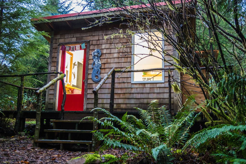 Nestled in the north fork of the Nehalem, OR, United States, sweet cabin is perfect for a little escape in ...