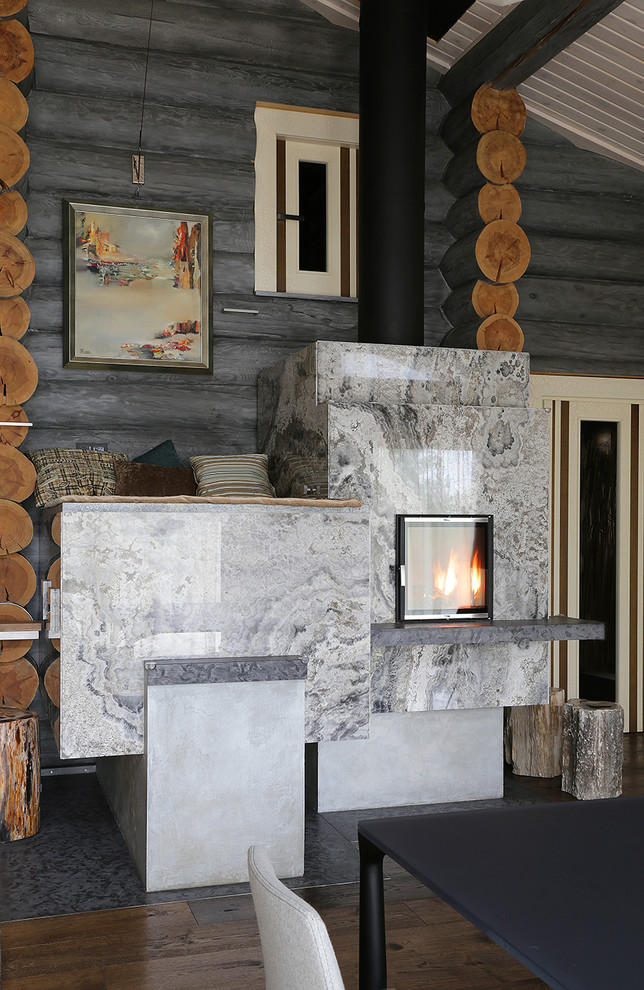 Moscow Log House cozy modern interior