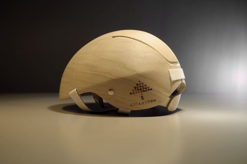 This prototype helmet was made by the Swedish company Cellutech and is perfect for all cycling enthusiasts.