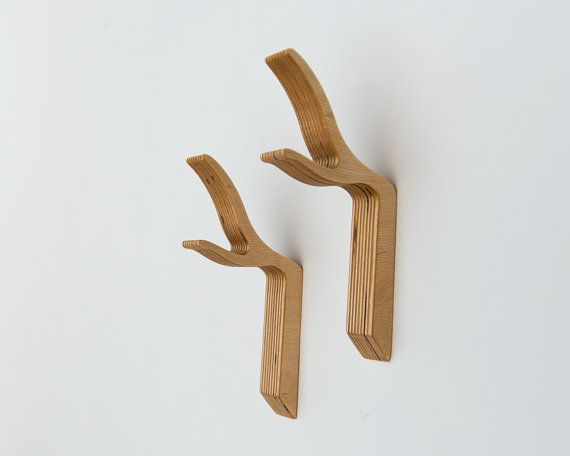 Modern yet sculptural and organic these stylized twig hooks make a striking perch for coats, bags, hats, towels and umbrellas. ...