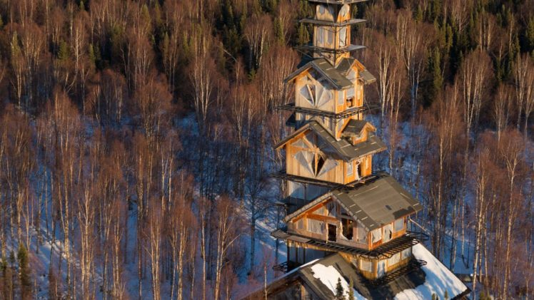 After a forest fire created a natural clearing among the trees, Philip Weidner, owner and builder of Goose Creek Tower, ...