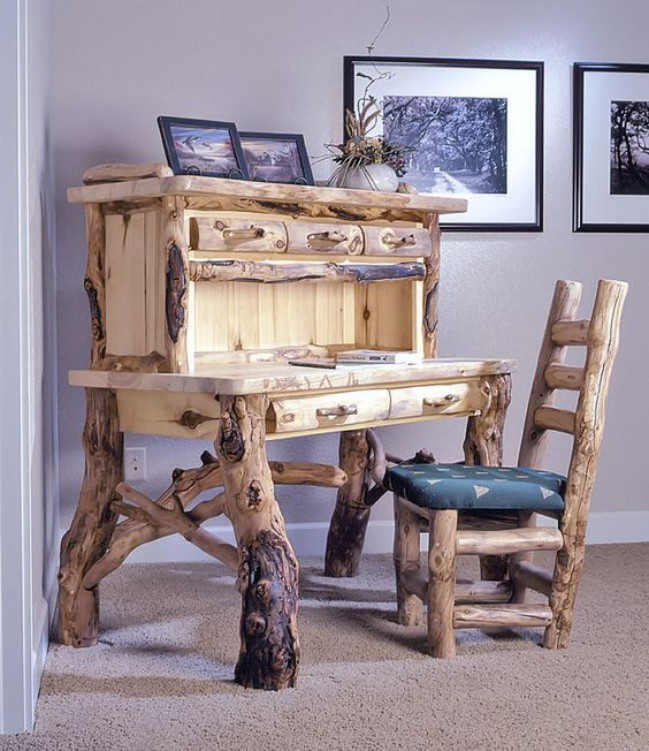 Log furniture is typically used for furnishing country homes, log cabins or mountain lodges but this type of furniture has ...