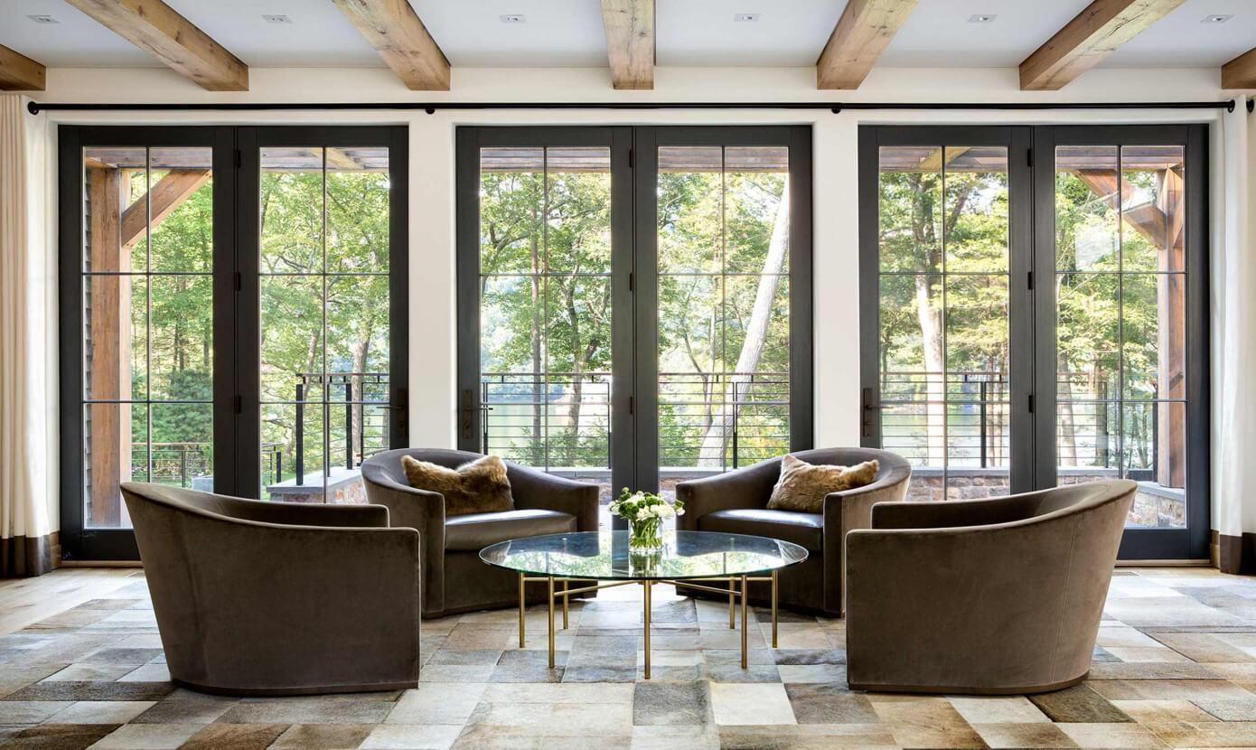 Modern lake house woodz for Modern lake house designs