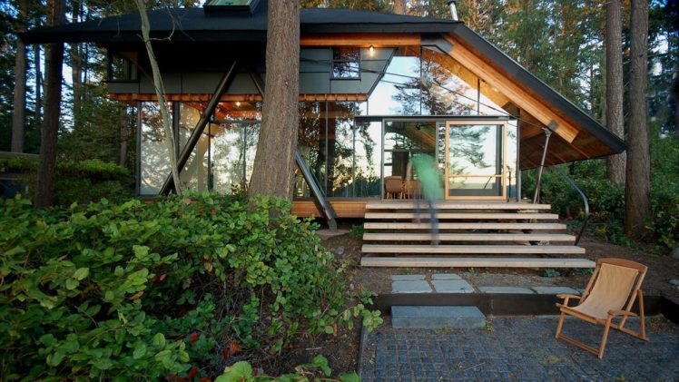 The Sneeoosh cabin is the underbrush at the waters edge near Deception Pass on the Swinomish Indian Reserve. The dynamic ...
