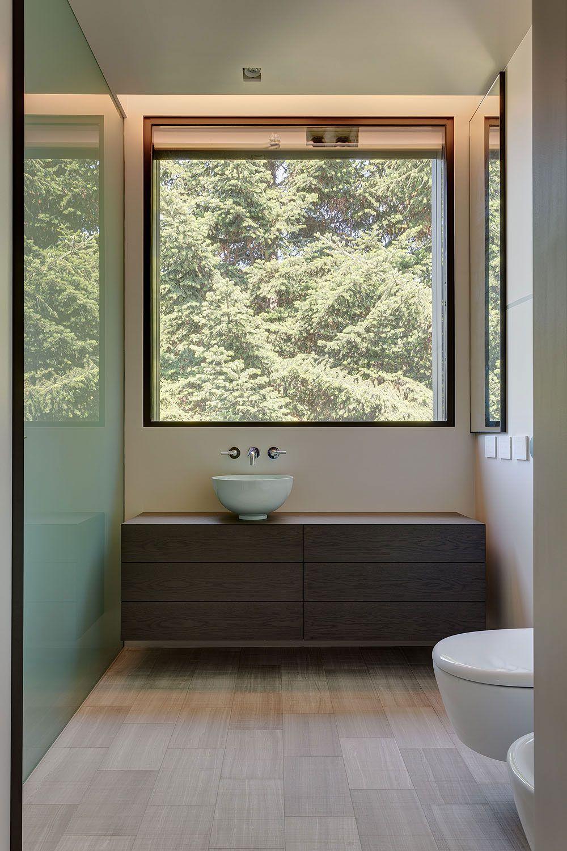 modern architecture emphasizing wooden design bathroom