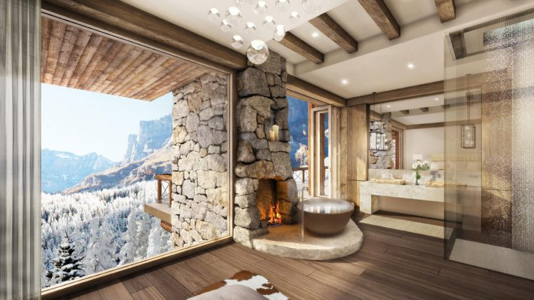 Nestled in the mountains of Switzerland, this Leukerbad resort property gives a stunning snow-capped valley view of the mountains and ...