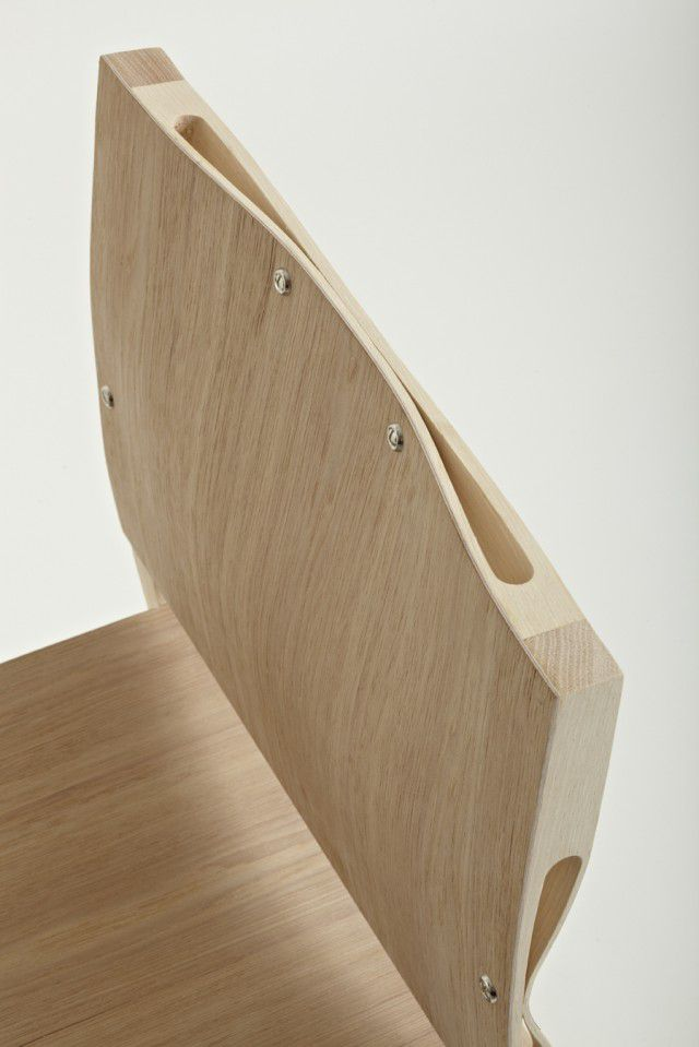 Rhode Island School of Design graduate Nic Wallenberg has created 'Squeeze' chair with elegant ergonomic curves.
