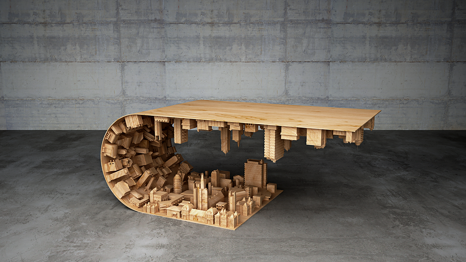 When you look at this table you immediately think - Inception. If you have seen the movie then you know ...