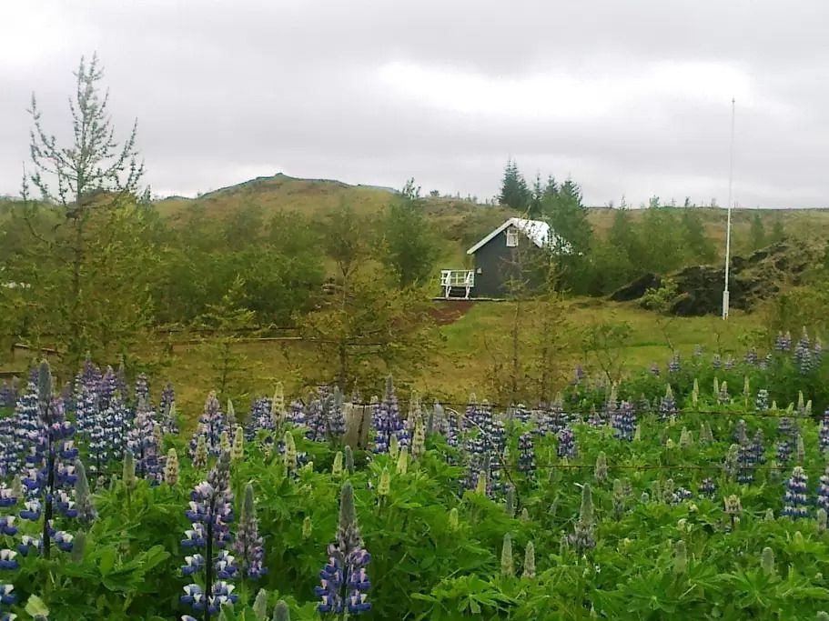 Hæðargarðsvatn lake Cabin near the small town of Klaustu