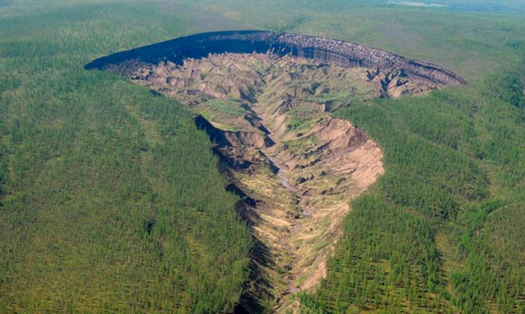 Approximately 25 years ago, a huge crater suddenly appeared in a remote area of Siberia, outside the small town of ...