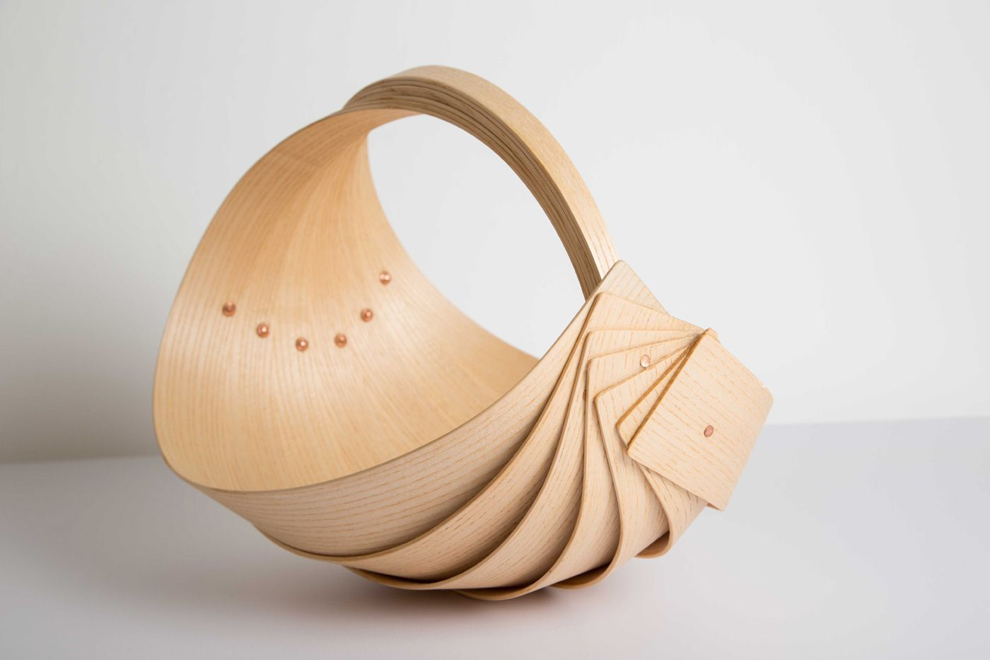 Steam-bent basket by Jane Crisp